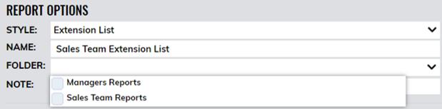 Adding Report to folder
