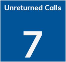 Unreturned calls tile